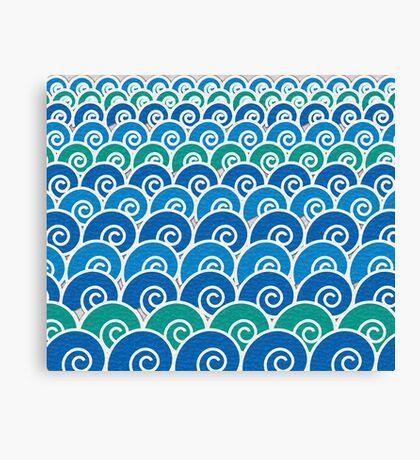 Blue Beach Waves Canvas Print