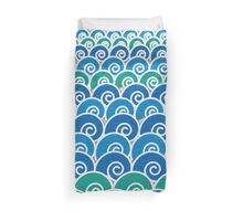 Blue Beach Waves Duvet Cover