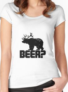 Bear Beer Women's Fitted Scoop T-Shirt