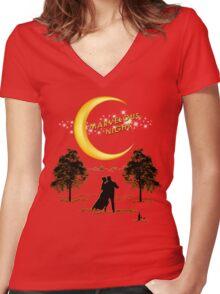 Marvelous Night Women's Fitted V-Neck T-Shirt