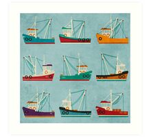 Fishing Trawlers Art Print