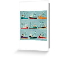 Fishing Trawlers Greeting Card