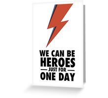 David Bowie (HEROES) Greeting Card