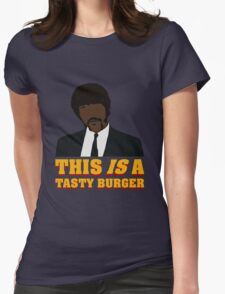This is a tasty burger. Womens Fitted T-Shirt