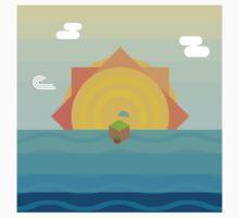 Geometric sunset One Piece - Short Sleeve