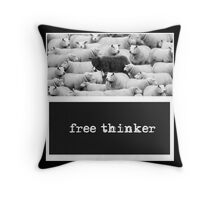 Black sheep or free thinker? Throw Pillow