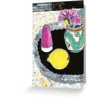 cornish vase 2 Greeting Card