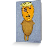 Orange Doll Greeting Card