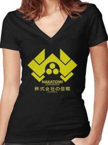 Nakatomi Women's Fitted V-Neck T-Shirt