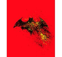 Bat Sign - in yellow, red and black Photographic Print
