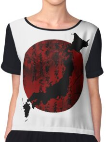 Japan With Honor Chiffon Top
