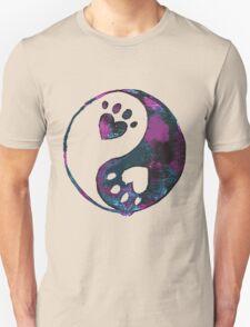 Blue Yin-Yang Paw Watercolor T-Shirt