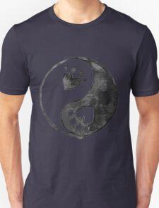 Black Yin-Yang Paw Watercolor T-Shirt