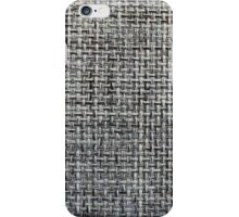 grey background of textile texture iPhone Case/Skin