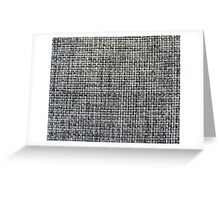 grey background of textile texture Greeting Card