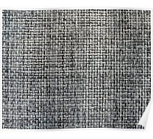 grey background of textile texture Poster