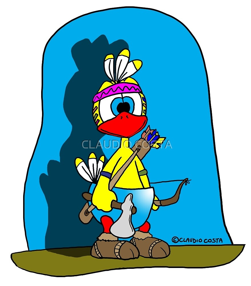 """Rick the chick """"INDIAN CHICK"""" by CLAUDIO COSTA"""