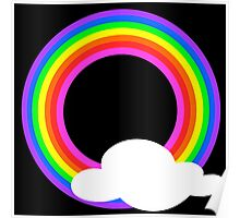 Rainbow Circle And Cloud Poster