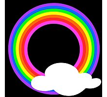 Rainbow Circle And Cloud Photographic Print