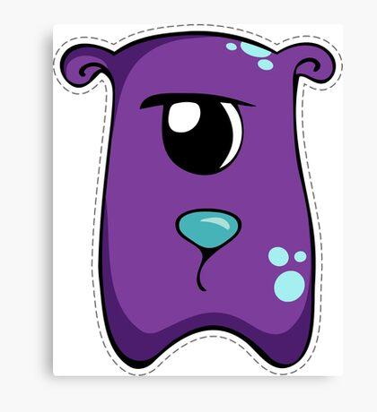 Cute purple monster Canvas Print