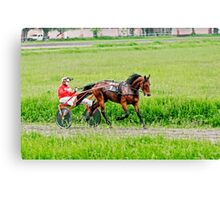 Horse racing Canvas Print