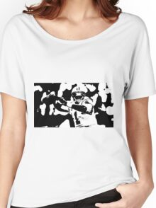 Cam Newton black/white Women's Relaxed Fit T-Shirt