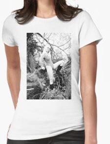 Forest Swimsuit and Boots Womens Fitted T-Shirt
