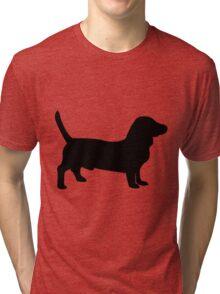 Bull terrier dog silhouette Tri-blend T-Shirt