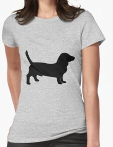 Bull terrier dog silhouette Womens Fitted T-Shirt