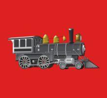 American Steam Locomotive 1880 One Piece - Short Sleeve