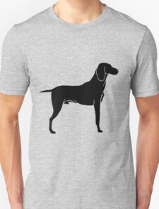 Airedale terrier dog silhouette T-Shirt