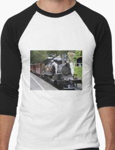 Puffing Billy steam train engine, Australia Men's Baseball ¾ T-Shirt
