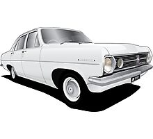Holden HR Special Sedan - Grecian White Photographic Print