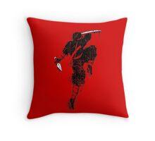 Killer Ninja Throw Pillow