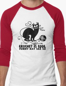 Crochet is Cool Men's Baseball ¾ T-Shirt