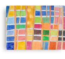 Rectangle Pattern With Sticks  Canvas Print