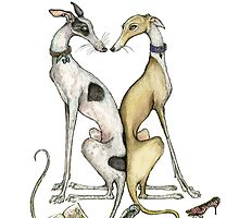 Love is Greyhounds and Chewed Shoes by Elle J Wilson