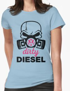 The Dirty Diesel Skull Womens Fitted T-Shirt