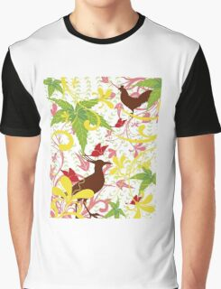 Beautiful delineation birds Graphic T-Shirt