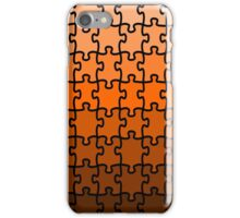 Brown Puzzle iPhone Case/Skin