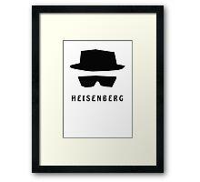 Heisenberg logo Framed Print