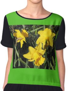 Daffodils Dreaming Chiffon Top