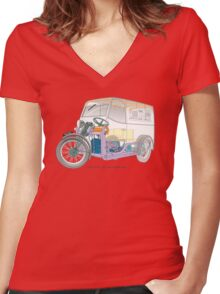 1935 7CWT Reliant personalized for Geoff Women's Fitted V-Neck T-Shirt