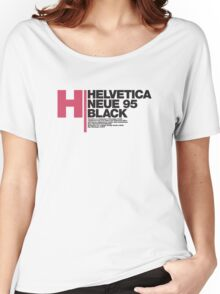 Helvetica Neue 95 Black Women's Relaxed Fit T-Shirt