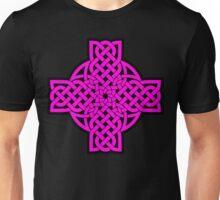 Magenta Tulip Cross Unisex T-Shirt