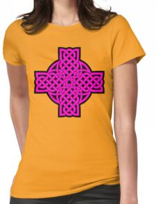 Magenta Tulip Cross Womens Fitted T-Shirt