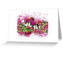 Free floral design background Greeting Card