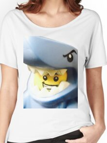 Lego Shark Suit Guy minifigure Women's Relaxed Fit T-Shirt