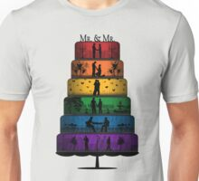 Gay Pride Wedding Cake Unisex T-Shirt