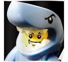 Lego Shark Suit Guy minifigure Poster